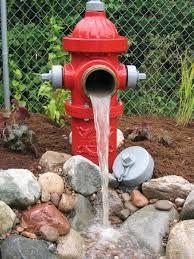 fire hydrant pond decor - Google Search