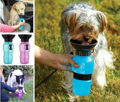 This Dog Water Bottle With Bowl Attached is pure genius and will come in handy for anyone with a pet. This is perfect for walks and road trips.