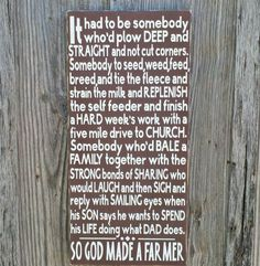 So God Made A Farmer Sign Paul Harvey Quote Hand Painted Rustic Sign on Etsy, $85.00