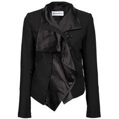 ANN DEMEULEMEESTER Jacket Old Satin Black ($1,340) ❤ liked on Polyvore