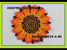 PASO DOS GIRASOL EN MOSTACILLA - YouTube Beaded Necklace Patterns, Beaded Bracelets Tutorial, Beaded Jewelry, Crochet Earrings, Beading Tutorials, Beading Patterns, Native American Beadwork, Beaded Flowers, Diy Tutorial