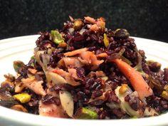 Arroz Negro com Salmao Defumado e Cogumelos  Receita da Zucca