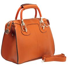 MG Collection MARISSA Orange Top Double Handle Doctor Style Handbag - List Price: $65.00 - Sale Price: $20.95