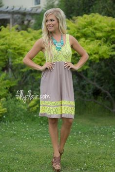 Maybe not those colors, but cute! My Perfect Spring Dress in Mocha - Lace - Dresses