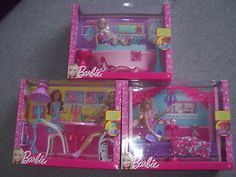 Bnib barbie dreamhouse #furniture & doll set - #bathroom, #bedroom or dining room,  View more on the LINK: http://www.zeppy.io/product/gb/2/321934348570/