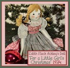 Edith Flack Ackley Vintage 16 Doll ePattern A by eVINTAGEpatterns, $3.99