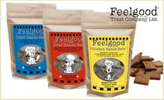Give your pup to a treat that'll make him yelp yippie ki-yay! These Ranch Bars from Feelgood are meaty, crunchy cookies made from all-natural, organic ingredients. The crunchy bars are wheat, gluten and preservative-free.