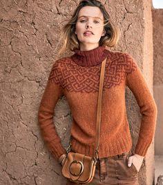 Knitting Machine Patterns, Knitting Patterns, Country Casual, Fair Isle Knitting, Long Sleeve Sweater, Her Style, New Dress, Knitwear, Knit Crochet