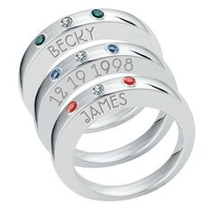 Continuous Life Stacking Mother's Rings
