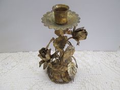 PERFECTLY SHABBY Italian TOLE gold metal by grannyscupboards