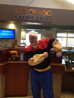 Halloween Fun - Colorado Credit Union  Our very own Popeye!