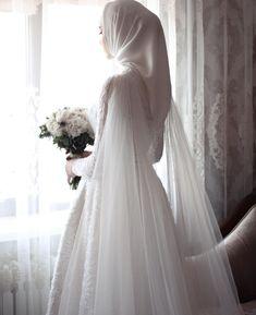 Muslimah Wedding Dress, Muslim Wedding Dresses, Princess Wedding Dresses, Dream Wedding Dresses, Bridal Dresses, Wedding Gowns, Bridal Hijab, Wedding Hijab Styles, Niqab