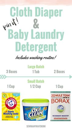 How to make your own cloth diaper and baby safe detergent. Also includes free printable washing routine. Place it in the laundry room to remind yourself or Daddy and Grandma how to wash your little ones cloths diapers.