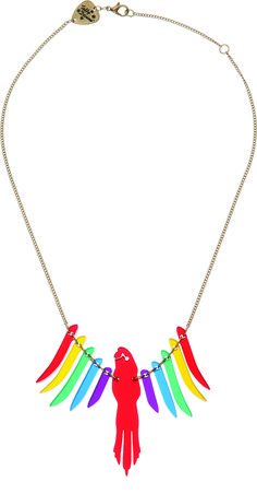 Parakeet Necklace - Red Multi - £50: http://www.tattydevine.com/parakeet-necklace-red-multi.html