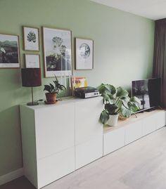 Ikea Living Room, Small Living Rooms, Living Room Interior, Living Room Designs, Ikea Tv, Ikea Wall, Ikea Hack Besta, Ikea Interior, Home Interior Design