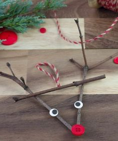For Christmas crafts use natural materials and recycle , naturmaterialien, Homemade Christmas Crafts, Christmas Crafts For Kids To Make, Simple Christmas, Christmas Diy, Preschool Christmas, Christmas Trees, Recycler Diy, Recycled Christmas Decorations, Christmas Family Feud