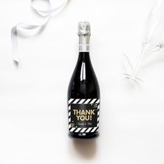 Custom Wine Champagne or Mini Champagne Bottle by sweetsanity
