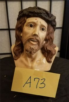 MERCY LANGFORD AUCTIONEER: AU004238 A73  Ceramic Christ. . Just in time for Easter.  Bid increments of at least $1.00 or more. All bids marked one minute after ending time are late. There is a 10% buyers premium and 7up % sales tax added on to the winning bid. ITEMS MUST BE PICKED UP WITHIIN SEVEN DAYS.. NO EXCEPTIONS. Please read our rules before bidding.