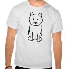 Keeshond Dog Cartoon T Shirts