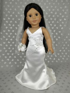 Beautiful Wedding  Dress for American Girl Doll 03