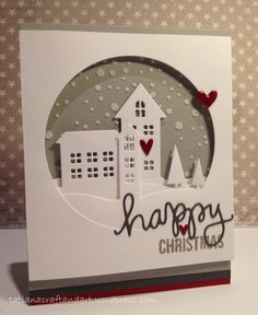 Happy Christmas handmade card. Used Simon Says Stamp exclusives.