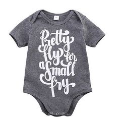 Toddler Baby Girls Bodysuit Short-Sleeve Onesie Rock Climbing Print Jumpsuit Summer Pajamas