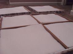 Sound Absorbing Art -- use foam inside of canvas art to dampen noise.