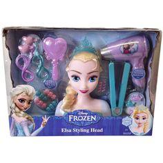 Elsa Styling Head 21 pieces Real Working Hairdryer http://www.parentideal.co.uk/amazon---disneys-frozen.html