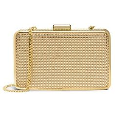 MICHAEL Michael Kors 'Elsie' Crystal Box Clutch ($298) ❤ liked on Polyvore