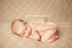 Gold Newborn Angel Wings Gold Baby Angel Wings Sweet Heavenly Blessing Wings And Headband Set Newborn Photo Prop on Etsy, $15.00