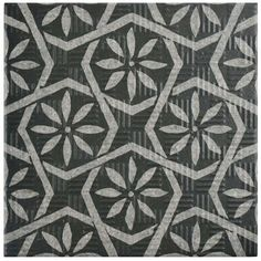 "Show details for 6""x6"" Area 15Botanic Black Porcelain Floor/Wall Tile"