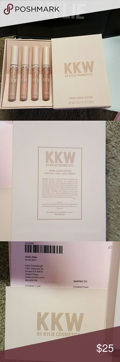 NWT! KKW KYLIE lipsticks-sold seperately $25 each I just ordered these and none match my skin tone except for Kimberly,so I'm selling Kim,Kiki and Kimmoe.They are all full size and 100% authentic. Pictures of my receipt are listed above. $25 each. These are full size and not many mattes and are also a very limited edition. If you are interested please let me know which one you would like and I will make a listing for you and ship asap. If you have any questions or would like to see any more…