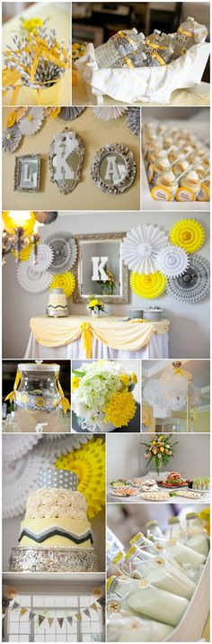 yes yes! Initial in mirror, paper swirlies, and I love how they hung the lanterns on the chandelier :)