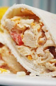 Receta de pollo enrollado Wraps | recetariosenlinea.