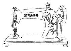 рисунок швейной машины карандашом свежо было воспоминание