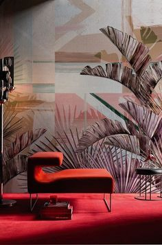 2016 collection: stunning colorful wallpaper mural FLORIDITA designed by María Gómez García for Wall and Deco Italy. Available in 2 colors.This vinyl wallpaper will Wallpaper Wall, Wallpaper 2016, Graphic Wallpaper, Wallpaper Ideas, Decoration Inspiration, Interior Inspiration, Decor Ideas, Tropical Wallpaper, Contemporary Wallpaper
