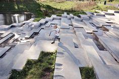 Landscape Stairs, Landscape Plans, Urban Landscape, Landscape Design, Garden Design, Architecture Plan, Landscape Architecture, Kids Amusement Parks, Water Walls