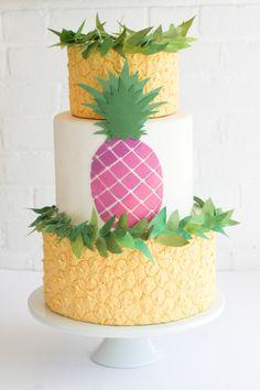 rosa pastel de piña por erica diseño de la torta obrien