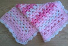 hand made baby blanket granny stripe www.facebook.com/CrochetForYourBabiesUk