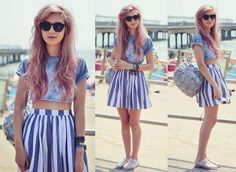Sweet stripes by the seaside! (by Amy Valentine // UK Style & Fashion Blogger)