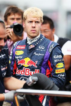 Sebastian Vettel Sebastian Vettel of Germany and Infiniti Red Bull Racing prepares to drive during the Italian Formula One Grand Prix at Autodromo di Monza on September 8, 2013 in Monza, Italy.