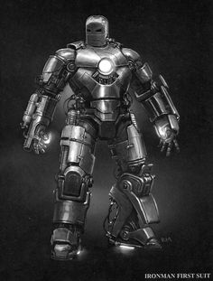 The original Mark I design by Marvel concept artist, Ryan Meinerding