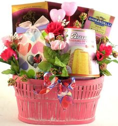 Pretty in Pink, Valentine`s Gift Basket for Her