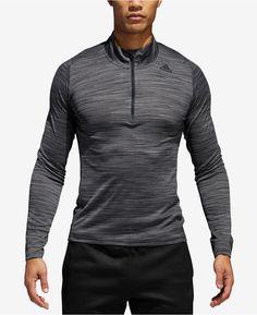 adidas Men s 36 Hours Ultimate Tech Quarter-Zip T-shirt Tech T Shirts b79f2df34