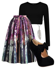 """""""Love this skirt. """" by alwaysapotter-head ❤ liked on Polyvore featuring Delicates by Paloma & Ellie and Chicwish"""