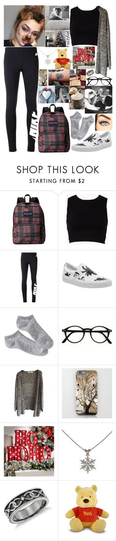 """""""626"""" by fuzzybat ❤ liked on Polyvore featuring JanSport, Forever 21, NIKE, Vans, Xhilaration, GET LOST, Improvements and Paul Morelli"""
