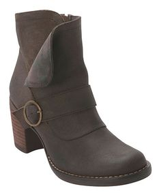Look at this #zulilyfind! Brown Miranda Leather Bootie by Miz Mooz #zulilyfinds