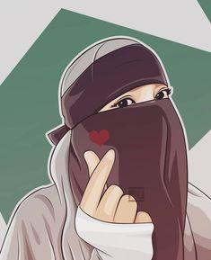 To illuminate you at any time. Anime Muslim, Muslim Hijab, Hijab Niqab, Hijab Dp, Beautiful Muslim Women, Beautiful Hijab, Girl Cartoon, Cartoon Art, Hijab Drawing
