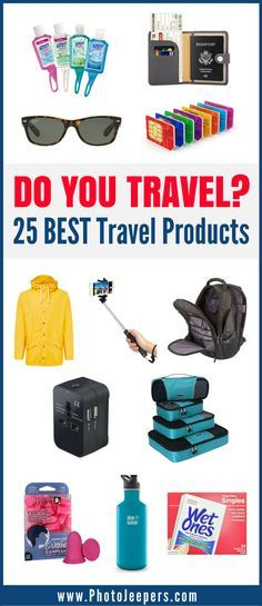 Are you looking for essential travel items for your next trip? Check out this list of 25 travel products recommended by frequent travelers. It includes everything from beauty products, to adapters, to bags, and much more. You'll be sure to find travel gear that will make your future travels so much easier. Don't forget to save these awesome travel products to your travel board so you can find them later.