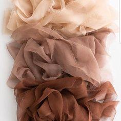 TAN organic hand & plant dyed silk ribbon 100% habutai silk   Etsy